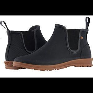 BOGS Sz 10 Gray Rubber Ankle Rain Boots - SweetPea